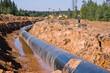 Leinwanddruck Bild - construction of the pipe line