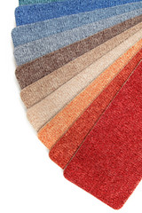 color range of carpet samples can serve as background