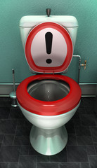 Attention toilettes