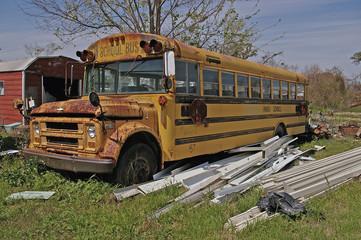 Kaputter Bus in New Orleans, Frühling 2008