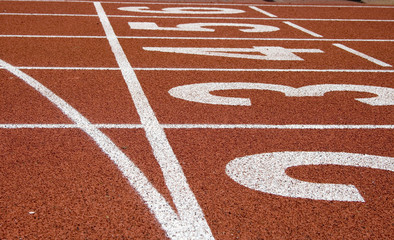 track and field starting line
