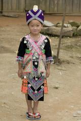 Laos Hmong Mädchen