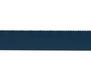 Close up of saw blade isolated on a white background.