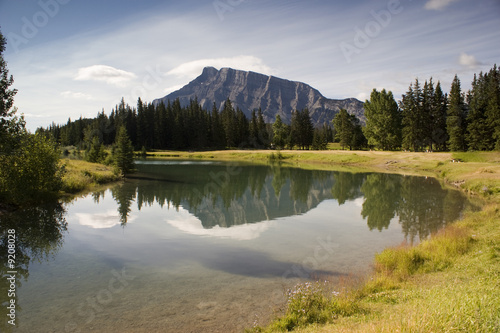 poster of Cascade Pond in August in Banff National Park Canada