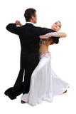 dancing couple isolated white background