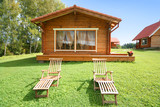 Fototapety cute comfortable summer cottage
