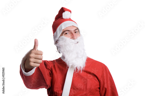 happy santa claus isolated on white background