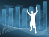 World business illustration - fully editable. poster