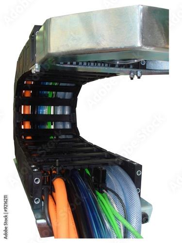 Chaine porte cable de claude laval photo libre de droits - Chaine porte cable ...