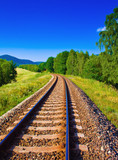 picture of nature with empty railway - Fine Art prints