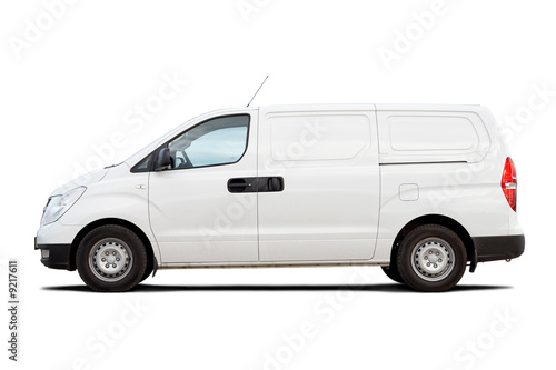 Poster Light commercial vehicle isolated on white