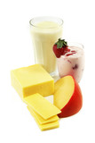 Calcium rich dairy products poster