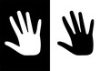 one black hand and one white hand
