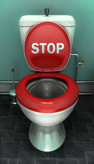 Toilettes stop aux microbes