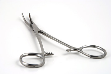Stock pictures of hemostats used in surgical practice
