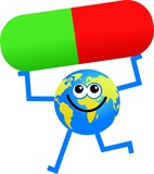 drug globe poster