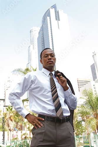 An confident and successful African-American businessman