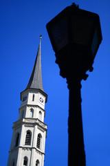 street lamp & spire