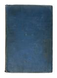Old Worn Blue Grunge Linen Vintage Book Cover poster