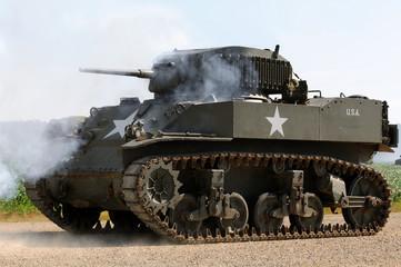 World War II era American army tank