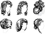 six hairstyles poster