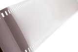 object on white - photographic film - negative macro poster