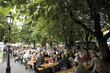 Germany, Bavaria, Munich, Beer garden, Viktualienmarkt