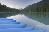 Bow River in August in Banff National Park Canada poster