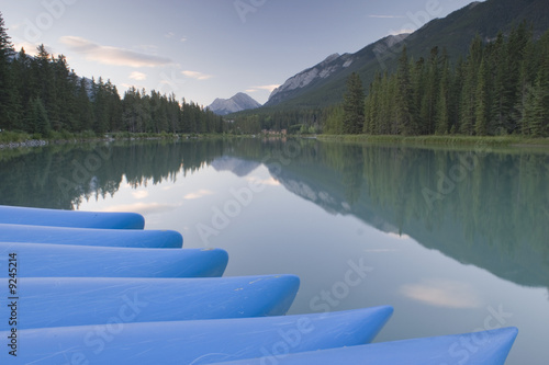 poster of Bow River in August in Banff National Park Canada