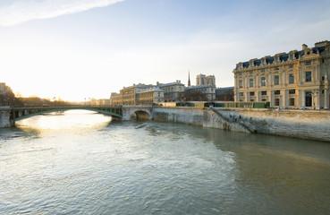 Frankreich, Paris, Seine, Pont d'Arcole