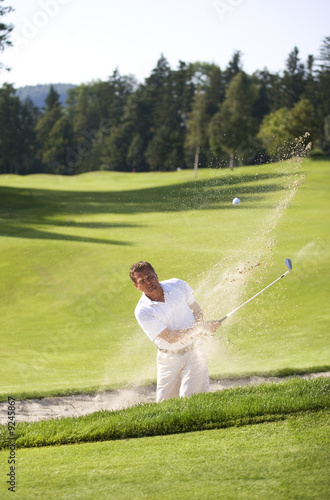 Austria, Man in Sand Trap