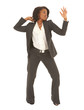 Sexy young adult african businesswoman in a business suit