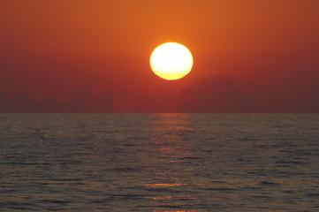 Italien, Forte dei Marmi, Sonnenuntergang