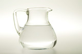 Glass carafe with water