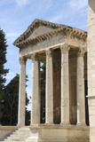 Historic Roman temple of August in Pula, Croatia poster