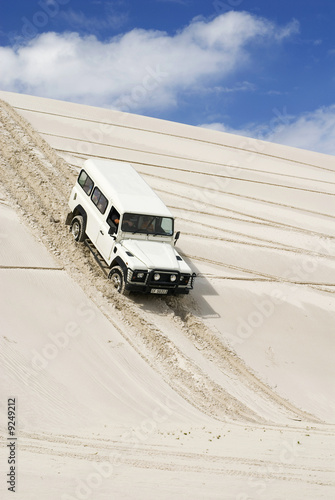 South Africa, Landrover in the dunes