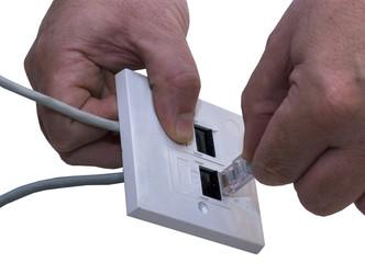 CAT5 Plug into Socket