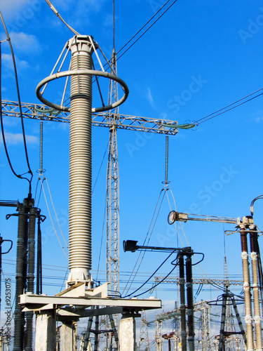 High voltage power plant equipment
