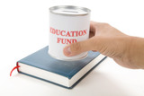 Education fund, concept of saving for college poster