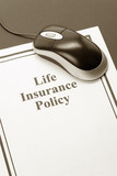 Document of Life Insurance Policy for background poster