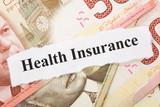 Headline of Health Insurance for background poster