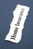 Headline of home Insurance with blue background poster