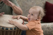 toddler drumming 2