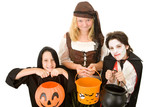 Three adorable trick or treaters begging for Halloween candy. poster