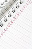 Calendar agenda, schedule poster