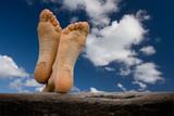 vacances tranquille détente repos pieds sable plage poster