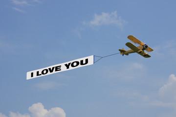 "Luftbanner ""I Love you"""