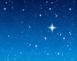 big bright star in the night sky waiting for a wish