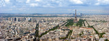 Fototapety Paris aerial panoramic view from Montparnasse tower.