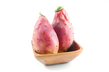 Dragon fruit isolated on a white background.